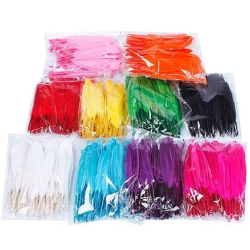 100PCS/bag beautiful goose feather 4-6 inches 10-15 cm Party Decoration Multicolored for Choice = 1946819652