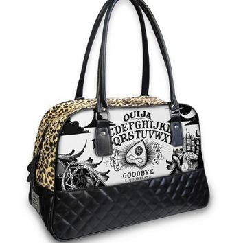LiquorBrand Ouija Board Occult Rockabilly Punk Overnight Large Handbag Purse