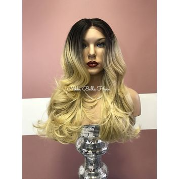 Blond ombre' lace front wig #11817