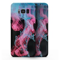 Vivid Pink and Teal liquid Cloud - Samsung Galaxy S8 Full-Body Skin Kit