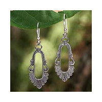 Sterling Silver 'Good Fortune' Dangle Earrings (Thailand)