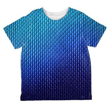 DCCKJY1 Halloween Blue Ice Dragon Scales Costume All Over Toddler T Shirt