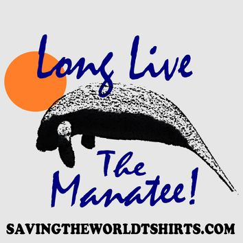 Long live the manatee! bumper sticker