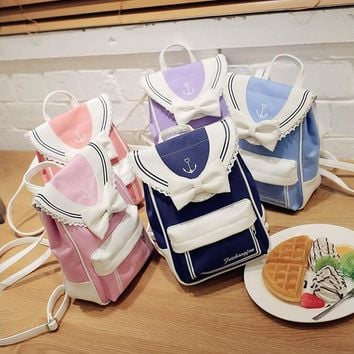 1 piece Anchor Sailor Moon costume Cute Fold Cat Shoulder Bag Schoolbag For Teenager Girls Rucksack Mochila backpack