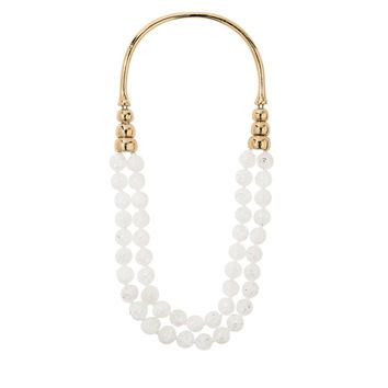 Aurélie Bidermann Lakotas White Crystal Long Necklace