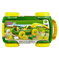 Mega Bloks First Builders John Deere Garden Cart Play Set (Green/Yellow/Silver)