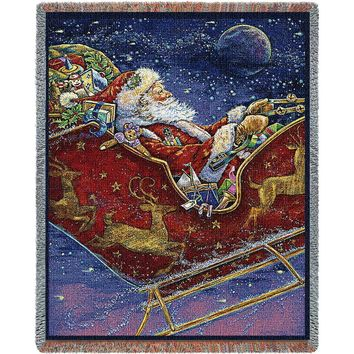Midnight Ride Christmas Afghan Throw Blanket