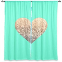 *** GATSBY GOLD HEART MINT **** Window Curtain !!!! New Product at Amazon for your GIRLSROOM!