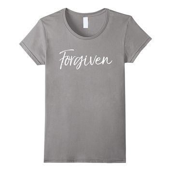 Forgiven Shirt Vintage Bold Jesus Washes Sins Christian Tee