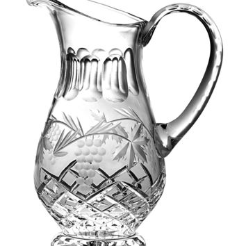 Majestic Gifts C683GR Hand Cut Crystal 43 oz. Pitcher