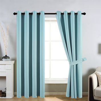 CC&DD HOME FASHION 2 Panels Set Window Curtains/ Panels/ Drapes,Thermal Insulated, Blackout ,Room Darkening - 8 Grommets per Pan