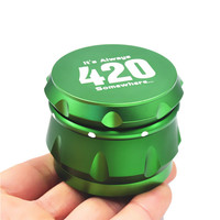 420 Green 56mm Aluminum Grinder