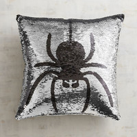 Spider & Bat Reversible Sequined Mermaid Pillow
