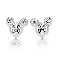 Mickey Mouse Crystal Icon Earrings - Small - Disney Designer Jewelry Collection