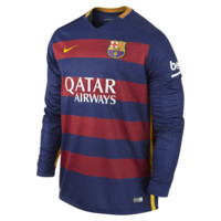 Nike 2015/16 FC Barcelona Stadium Home Men's Soccer Jersey