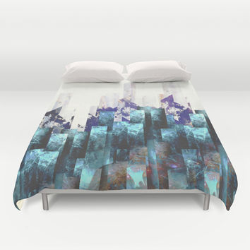 Cold cities Duvet Cover by HappyMelvin