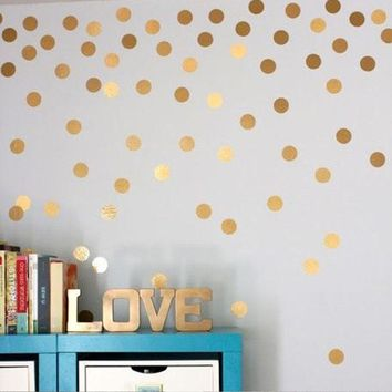52pcs Polka Dots Wall Sticker Nursery Stickers Kids Children Wall Decals Home Decor DIY Peel and Stick Art Wall Decoration (Colo