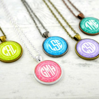 Monogram Pendant Necklace