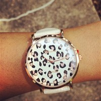 Pink Leopard Bling Watch