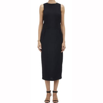 A.L.C. Monty Black Open-Side Dress