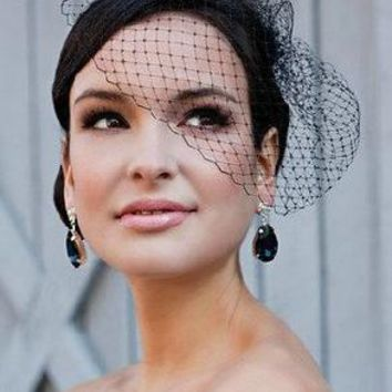 large black grid hairpin hair df297 veil Simple and easy fashion bridal party 10pcs/lot free shipping
