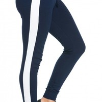 Cuffed Tracksuit Joggers in Navy Blue
