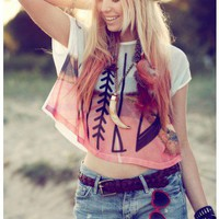 Wild Print Neon T-shirt - Short Sleeve - Tops - Retro, Indie and Unique Fashion