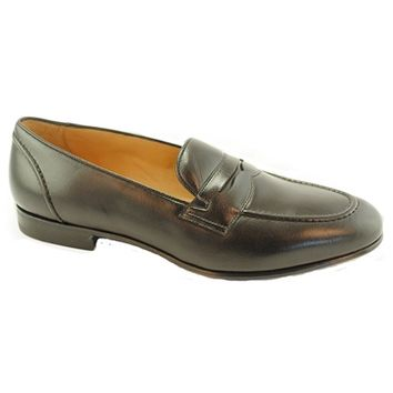 Baker Benjes Shoes - Black Calfskin Penny Loafer