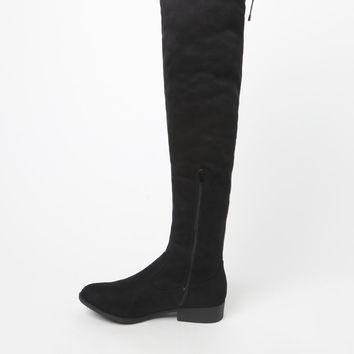 Qupid Vinci Faux Suede Knee-High Boots at PacSun.com