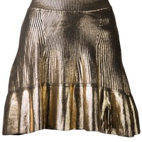 Ohne Titel metallic pleated skirt