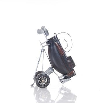 Black Golf Bag Hancrafted Figurines & Statues