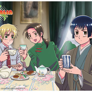 Hetalia Tea Time Wall Scroll