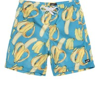 Neff Going Nanas Hot Tub Shorts - Mens Board Shorts - Blue - Small