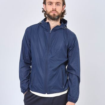 The Idle Man Lightweight Recycled Ripstop Jacket Navy
