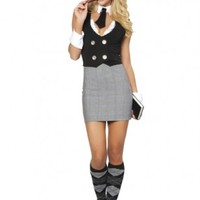 4 PC Librarian Costume @ Amiclubwear costume Online Store,sexy costume,women's costume,christmas costumes,adult christmas costumes,santa claus costumes,fancy dress costumes,halloween costumes,halloween costume ideas,pirate costume,dance costume,costumes