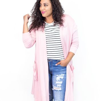 Emily Lightweight Duster Cardigan | Plus Size