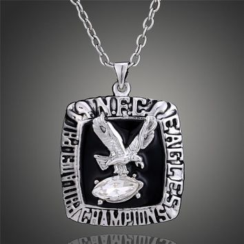 Retro 1980 Philadelphia Eagles Super Bowl Replica Pendant Necklace Men Awesome Sports Fans Steampunk Jewelry Gift D00337