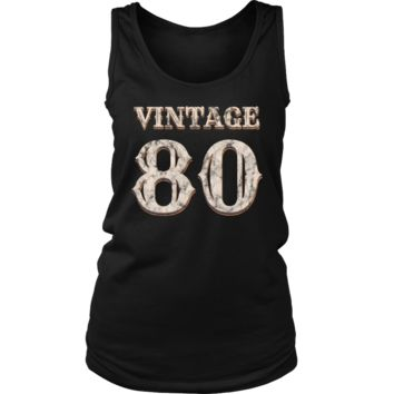 Women's Vintage 80 Tank Top 38th Birthday Gift for 38 Year Old