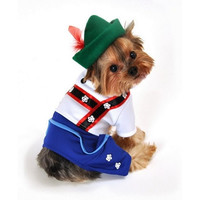 Bavarian Lederhosen Dog Costume - Medium