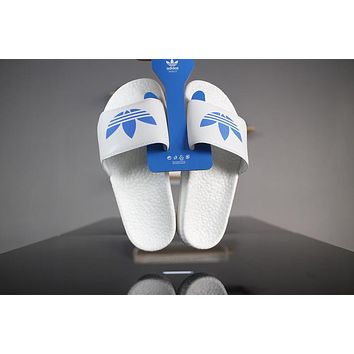 adidas adiltte boost s80771 white blue slide sandals