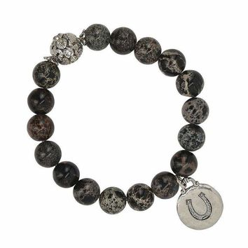 Lucky Horseshoe Charm Bracelet Black and Brown