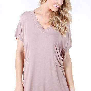 Lucky Find Tunic - Beige, Large