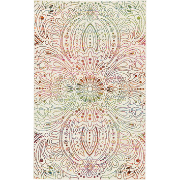 Unique Loom Lyon Ivory Area Rug & Reviews | Wayfair