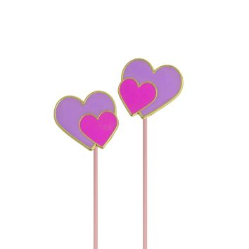 Angled Earbuds: Hearts