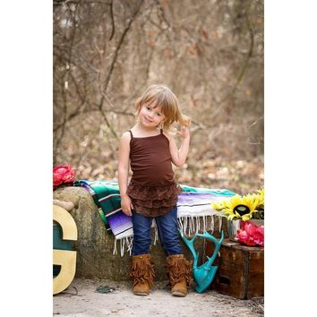 Kids Cami Ruffle Lace Extender by Southern Grace