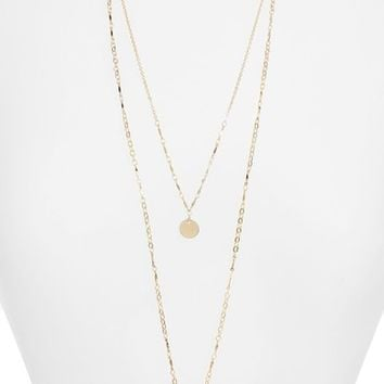 Halogen® Two-in-One Double Disc Pendant Necklace | Nordstrom
