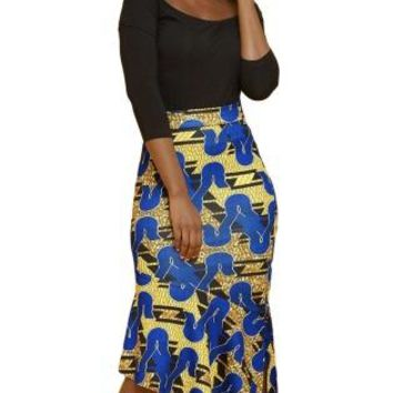 Nola African Pencil Skirt