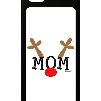 Matching Family Christmas Design - Reindeer - Mom iPhone 5 / 5S Grip Case  by TooLoud