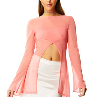 Sheer Delight Pink Polka Gateway Top