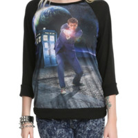 Doctor Who Tenth Doctor Raglan Girls Pullover